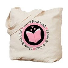 I Love Book Club Reading Tote Bag