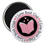 I Love Book Club Reading Magnet