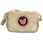 I Love Book Club Reading Messenger Bag