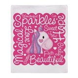 Unicorn Sparkles Throw Blanket