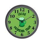Irish Drinking Team Wall Clock