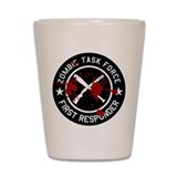 Bloody Zombie Task Force Shot Glass