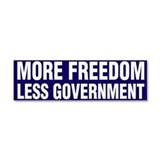 More Freedom Less Government Car Magnet 10 x 3