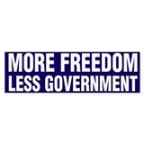 More Freedom Less Government Bumper Stickers