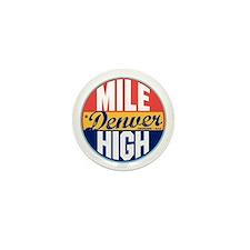 Denver Vintage Label Mini Button