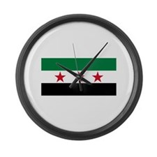 pre-1963 Flag of Syria Large Wall Clock