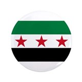 "pre-1963 Flag of Syria 3.5"" Button (100 pack)"
