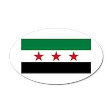 pre-1963 Flag of Syria 38.5 x 24.5 Oval Wall Peel