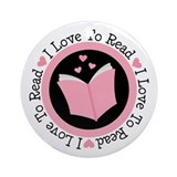 I Love To Read Books Ornament (Round)