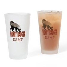 Honey Badger BAMF Drinking Glass