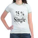 75% Single Jr. Ringer T-Shirt