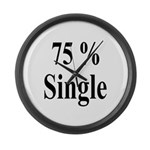 75% Single Large Wall Clock
