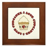 I Love Cupcakes Framed Tile