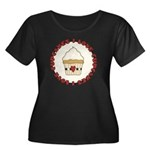 I Love Cupcakes Women's Plus Size Scoop Neck Dark