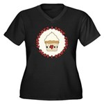 I Love Cupcakes Women's Plus Size V-Neck Dark T-Sh