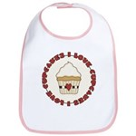 I Love Cupcakes Bib