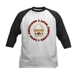 I Love Cupcakes Kids Baseball Jersey