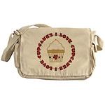 I Love Cupcakes Messenger Bag