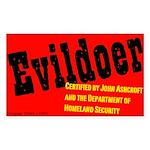 Certified Evildoer Rectangle Sticker