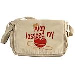 Alan Lassoed My Heart Messenger Bag
