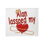 Alan Lassoed My Heart Throw Blanket