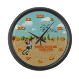 Skeet Trap Shooting Large Wall Clock