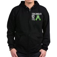 Fight Lymphoma Cancer Zip Hoodie