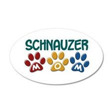Schnauzer Mom 1 22x14 Oval Wall Peel