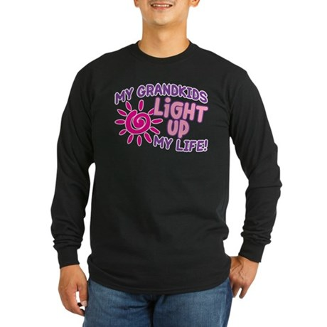 GRANDKIDS LIGHT UP MY LIFE Long Sleeve Dark T-Shir