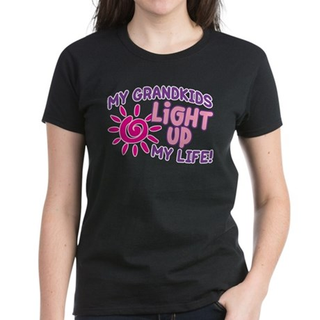 GRANDKIDS LIGHT UP MY LIFE Women's Dark T-Shirt
