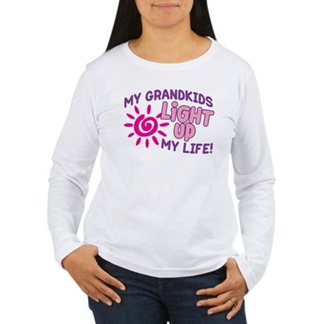 GRANDKIDS LIGHT UP MY LIFE Women's Long Sleeve T-S