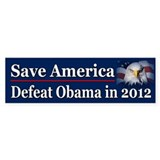 Defeat Obama in 2012 Bumper Sticker