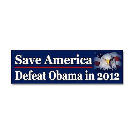 Defeat Obama in 2012 Car Magnet 10 x 3