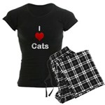 I Heart Cats Women's Dark Pajamas