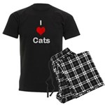 I Heart Cats Men's Dark Pajamas