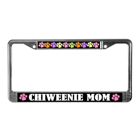 Chiweenie Mom License Plate Frame