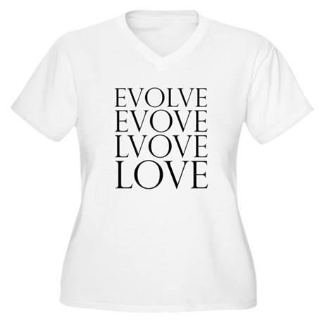 Evolve Perpetual Love Women's Plus Size V-Neck T-Shirt
