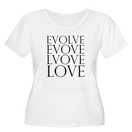 Evolve Perpetual Love Women's Plus Size Scoop Neck T-Shirt