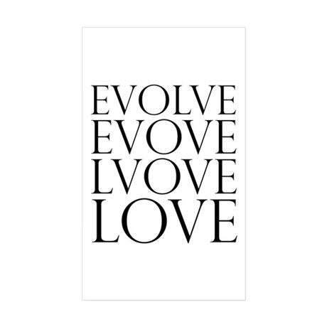 Evolve Perpetual Love Rectangle Stickers ~ Pack of 10