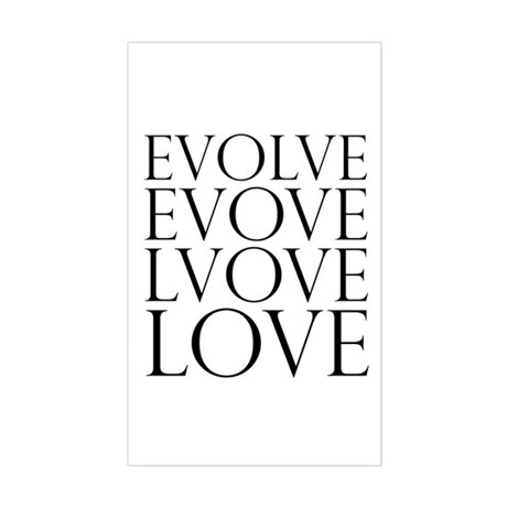 Evolve Perpetual Love Rectangle Sticker