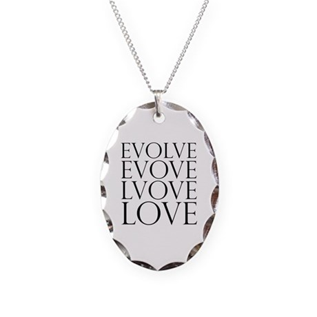 Evolve Perpetual Love Necklace with Oval Charm
