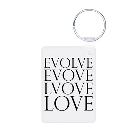 Evolve Perpetual Love Aluminum Rectangle Keychain