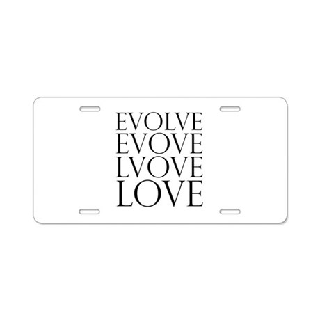 Evolve Perpetual Love Aluminum License Plate