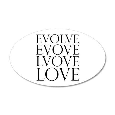 Evolve Perpetual Love 38.5x24.5 Oval Wall Peel