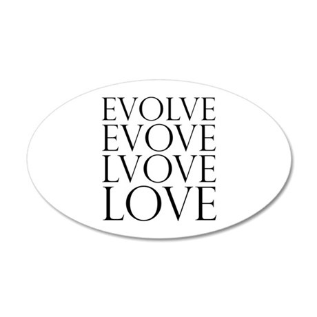 Evolve Perpetual Love 22x14 Oval Wall Peel