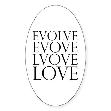 Evolve Perpetual Love Oval Sticker