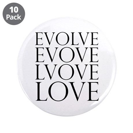 Evolve Perpetual Love 3.5 Inch Buttons ~ Pack of 10