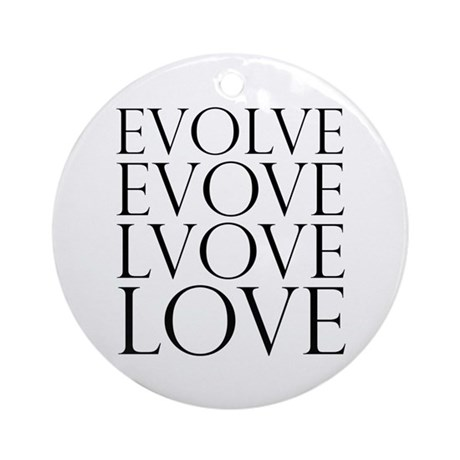 Evolve Perpetual Love Round Ornament