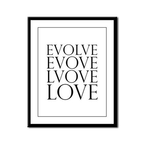 Evolve Perpetual Love Framed Panel Print