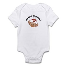 My First Christmas Girl Monke Infant Bodysuit